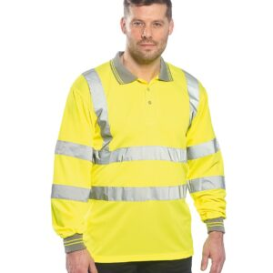 Portwest Hi-Vis Long Sleeve Polo Shirt